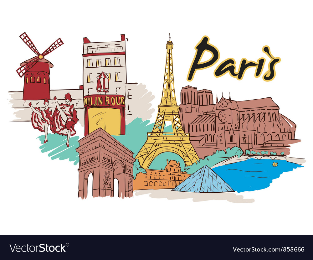 Paris doodles vector | Price: 3 Credit (USD $3)