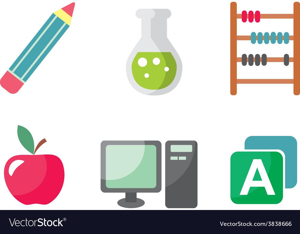 School icon set vector | Price: 1 Credit (USD $1)