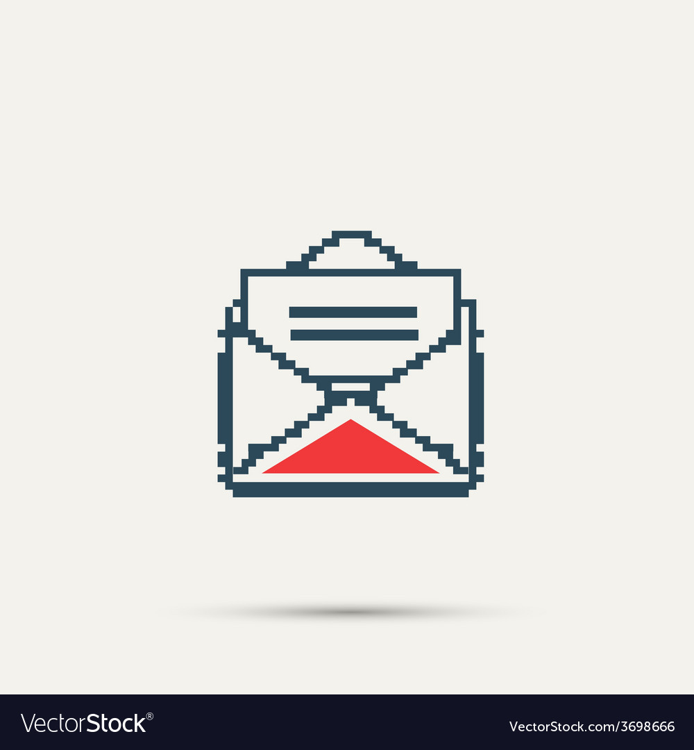 Simple stylish pixel icon envelope design vector | Price: 1 Credit (USD $1)