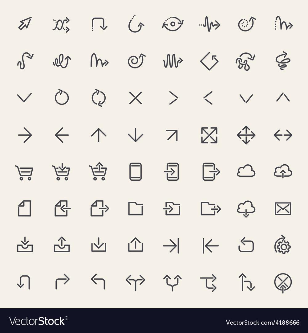 Stroke arrow icons vector   Price: 1 Credit (USD $1)