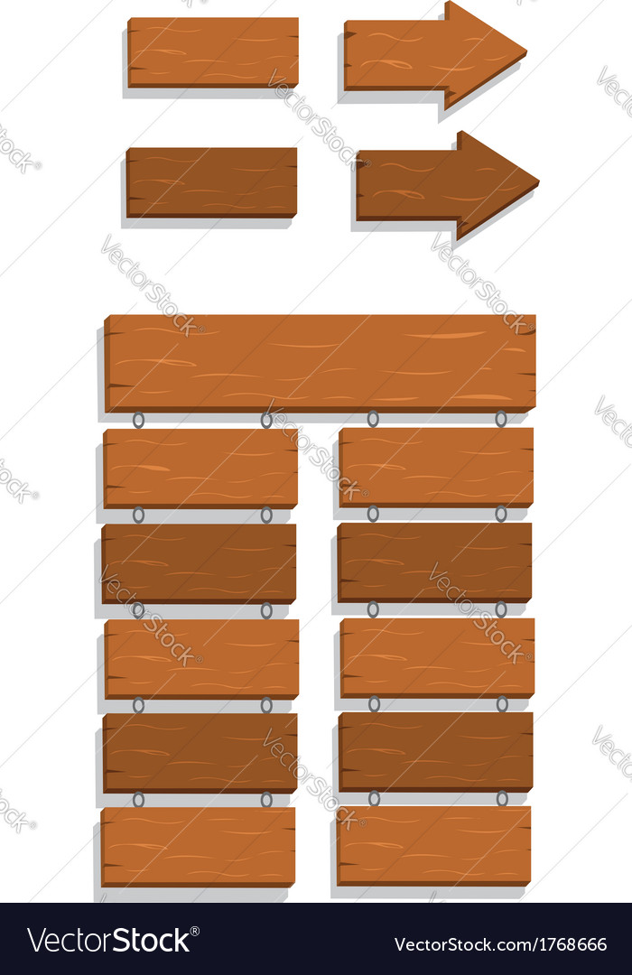 Wooden signs vector   Price: 1 Credit (USD $1)