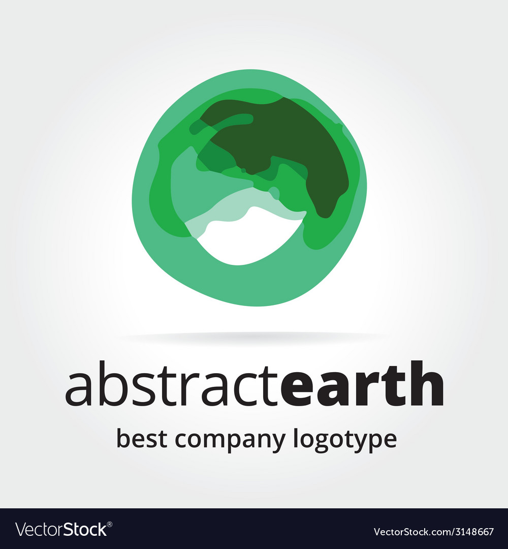 Abstract earth logotype concept isolated on white vector | Price: 1 Credit (USD $1)