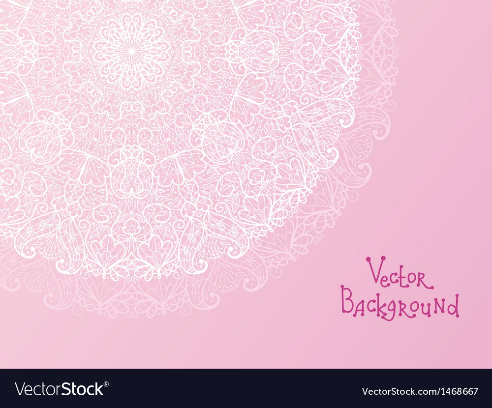 Abstract white doily vignette background vector | Price: 1 Credit (USD $1)