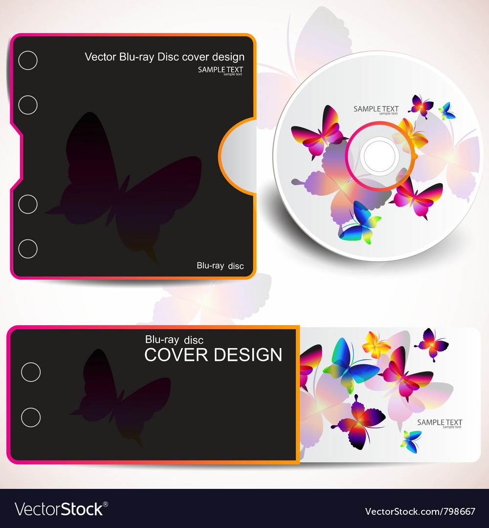 Cover design template of disk and business card bu vector | Price: 1 Credit (USD $1)