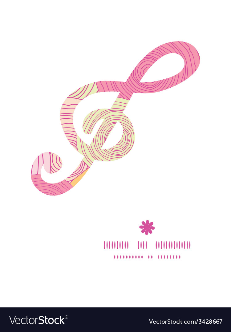 Doodle circle texture g clef musical silhouette vector | Price: 1 Credit (USD $1)