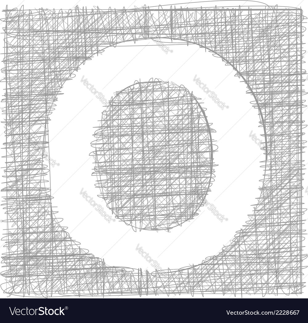 Freehand typography letter o vector | Price: 1 Credit (USD $1)