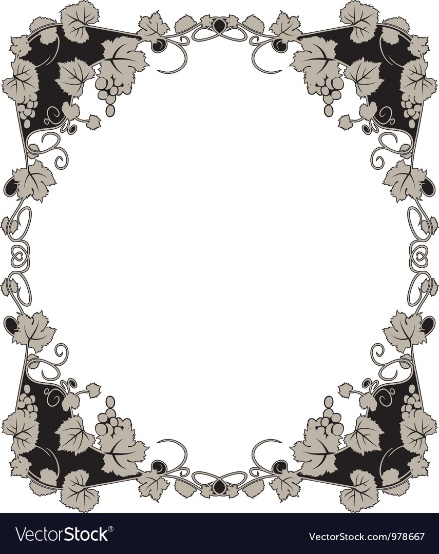 Grape frame vector | Price: 1 Credit (USD $1)
