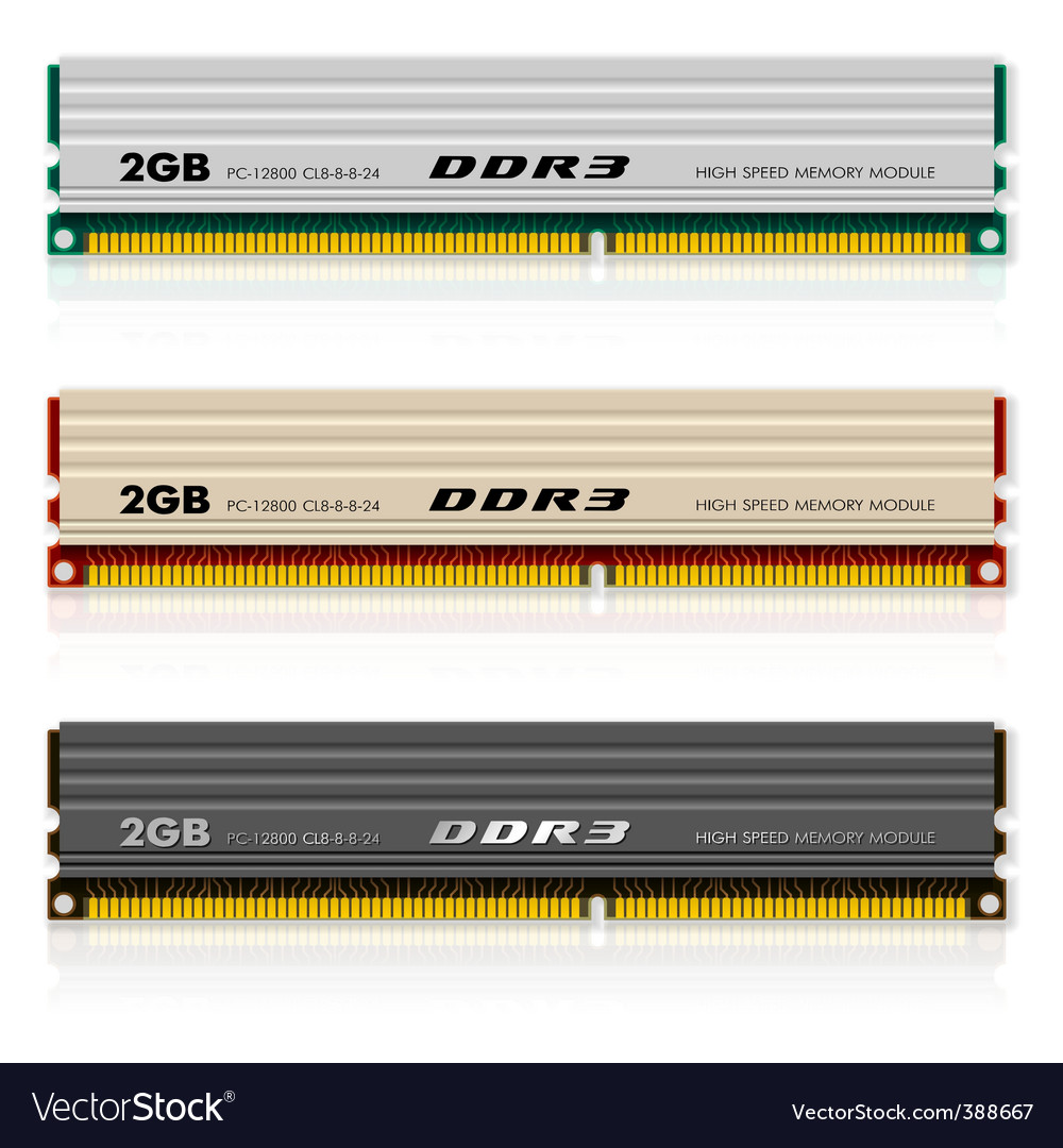 Memory modules vector | Price: 3 Credit (USD $3)