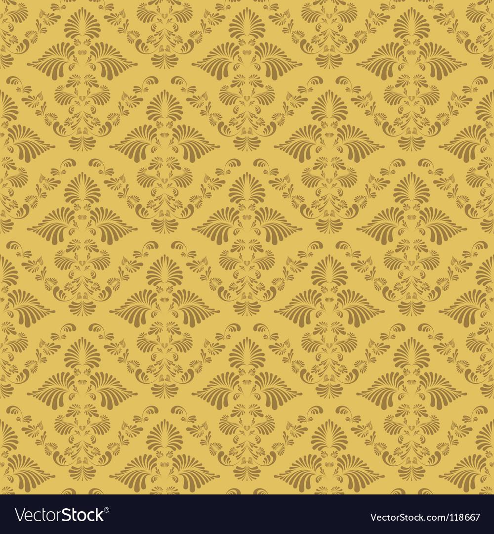 Retro damask wallpaper vector | Price: 1 Credit (USD $1)