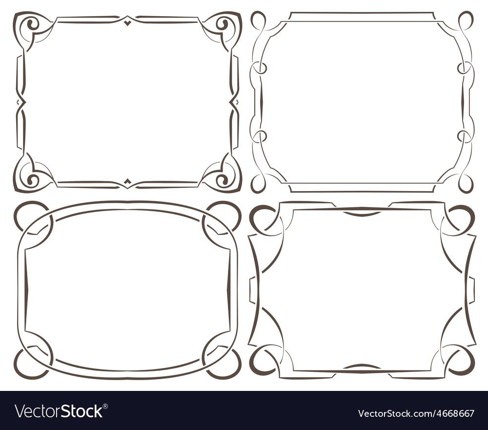 Set of beautiful framework vector | Price: 1 Credit (USD $1)