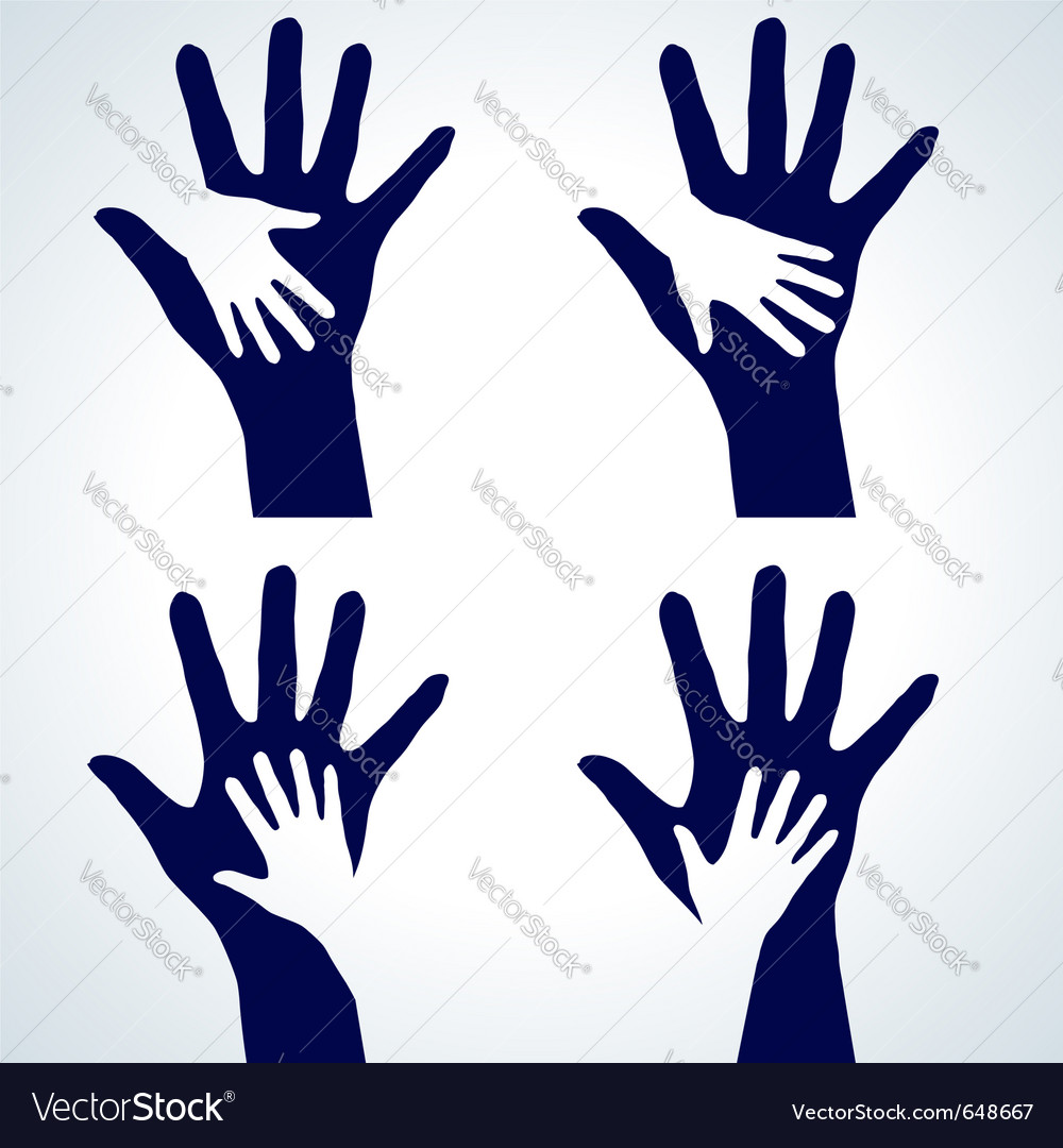 Set of hands silhouette vector | Price: 1 Credit (USD $1)