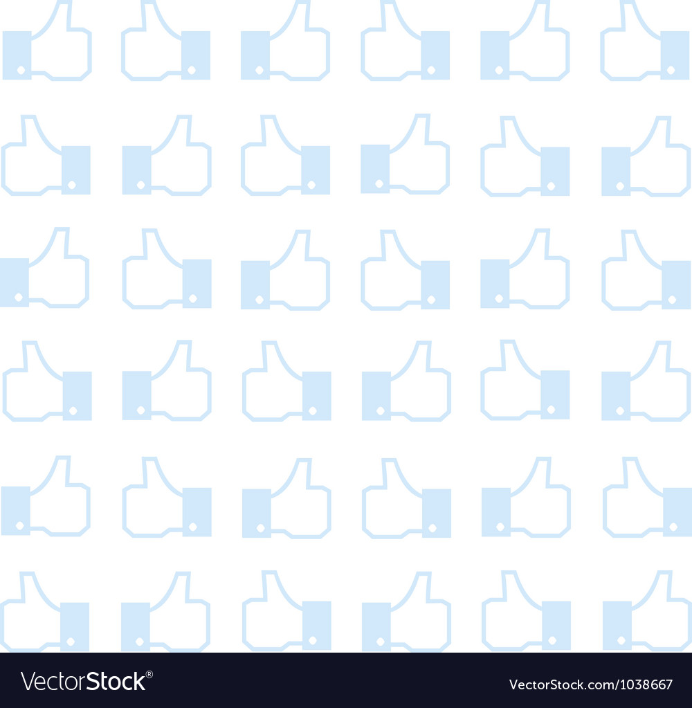 Thumbs up - seamless background vector | Price: 1 Credit (USD $1)