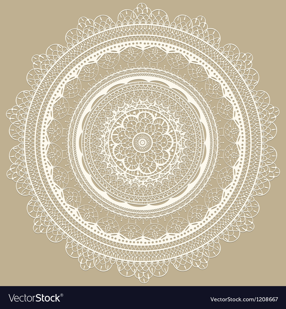 Vintage white lacy napkin vector | Price: 1 Credit (USD $1)