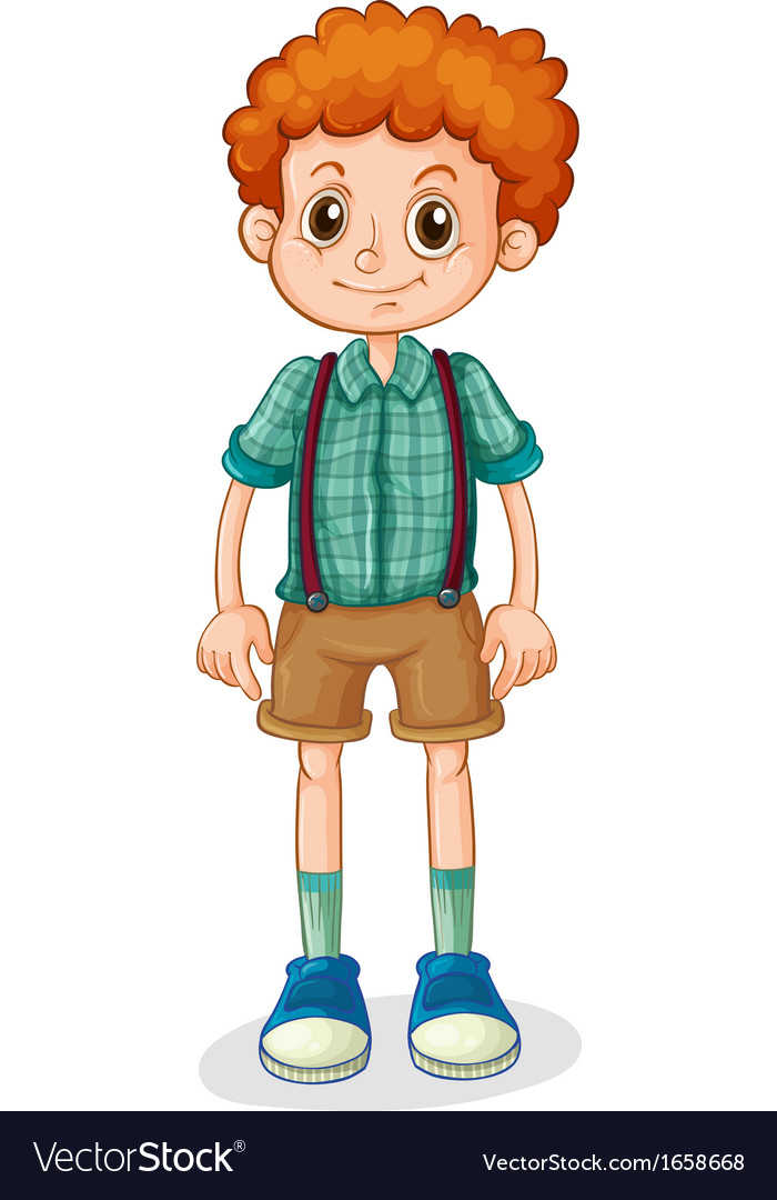 A young boy with a curly hair vector   Price: 3 Credit (USD $3)