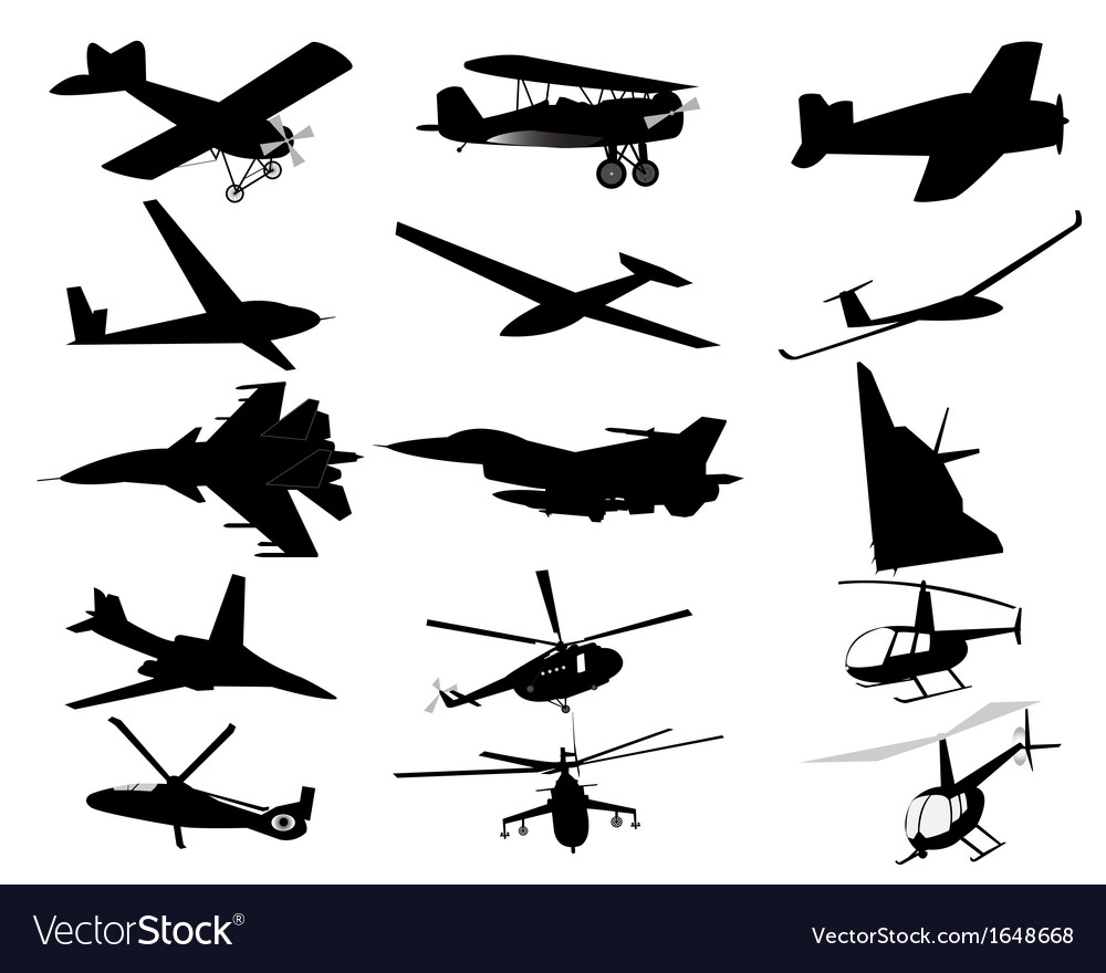 Airplanes helicopters vector | Price: 1 Credit (USD $1)