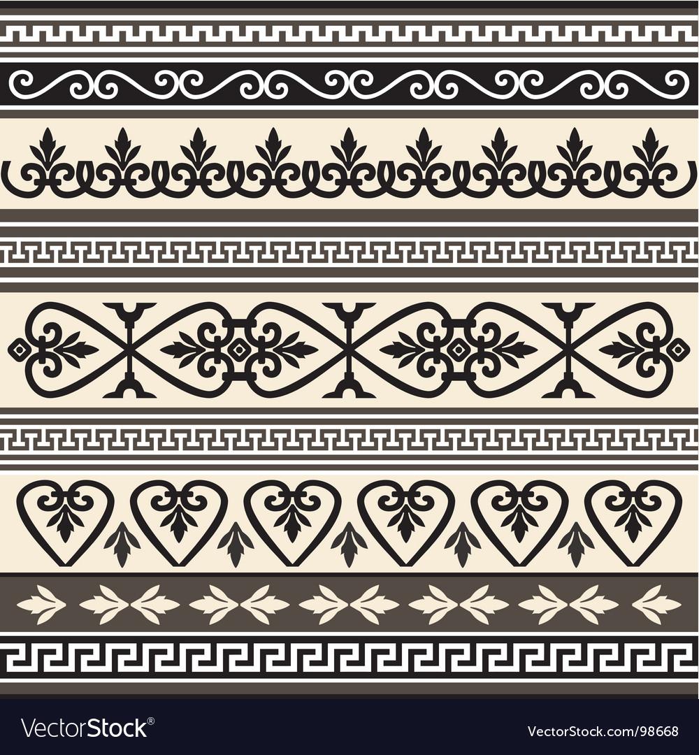 Antique borders vector | Price: 1 Credit (USD $1)