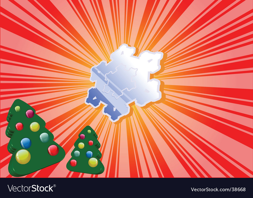 Christmas pines background vector | Price: 1 Credit (USD $1)
