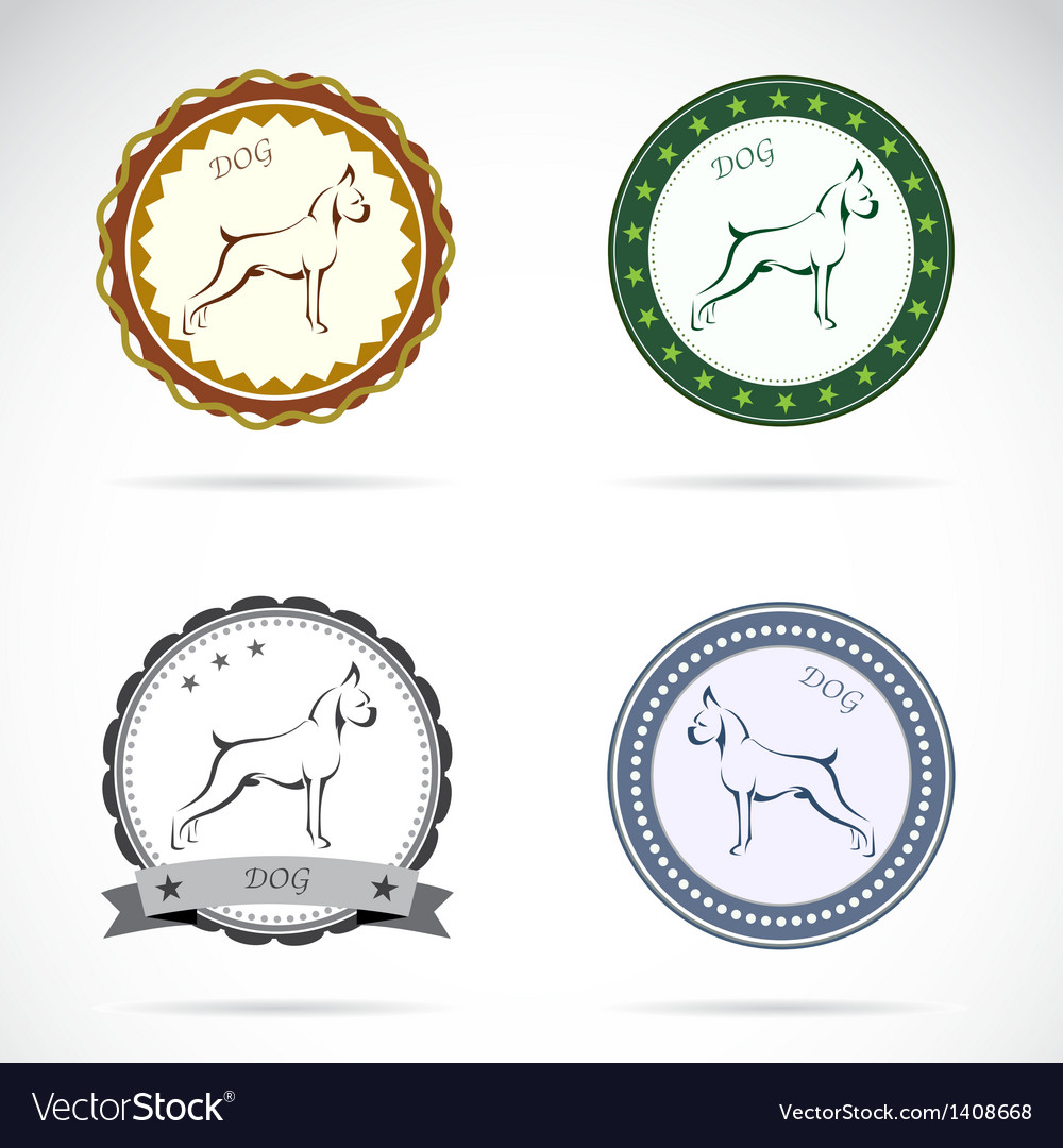 Dog labels vector | Price: 3 Credit (USD $3)