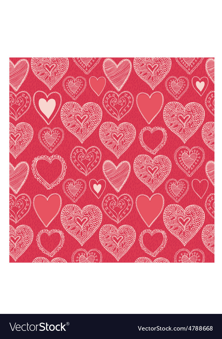 Hearts seamless pattern valentines day background vector | Price: 1 Credit (USD $1)