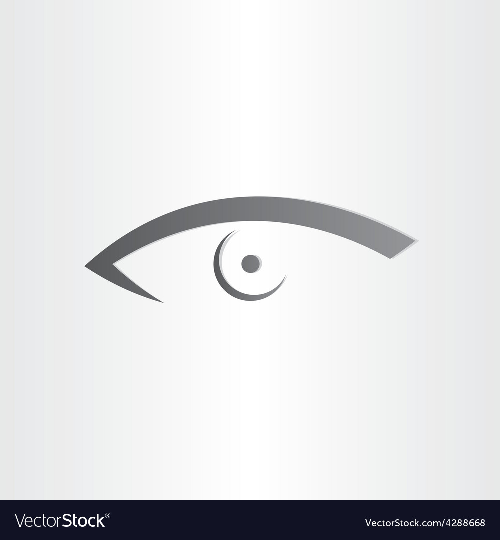 Human eye stylized icon vector | Price: 1 Credit (USD $1)