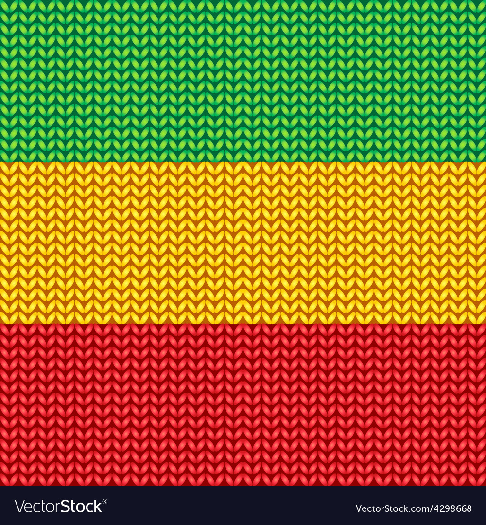 Knitted reggae pattern vector | Price: 1 Credit (USD $1)