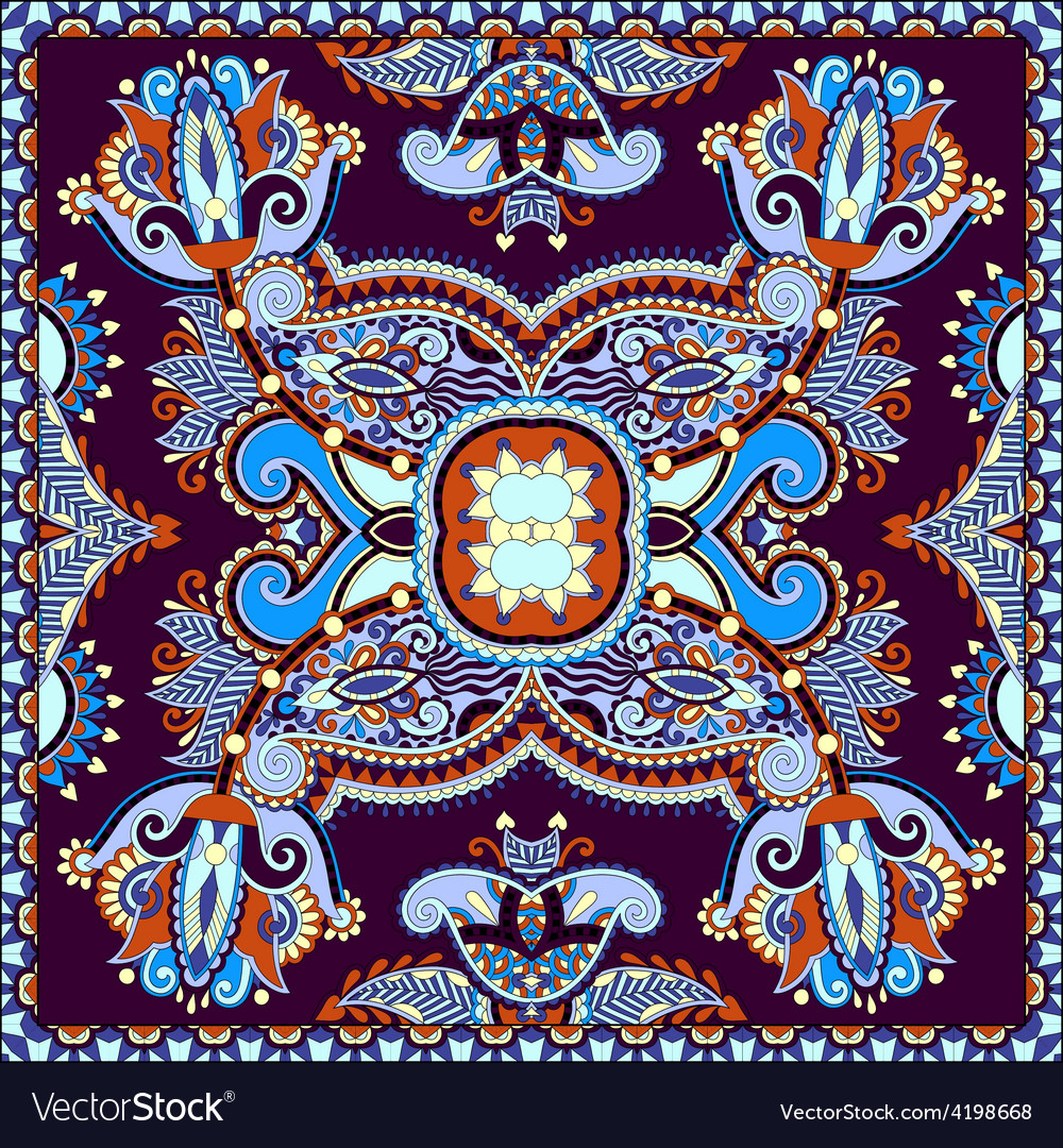 Neck scarf or kerchief square pattern design vector | Price: 1 Credit (USD $1)
