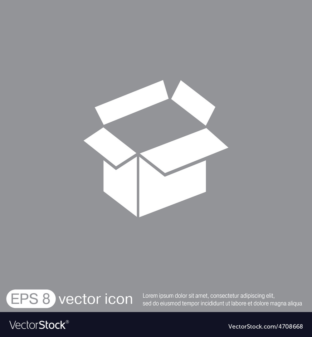Opened cardboard box vector | Price: 1 Credit (USD $1)