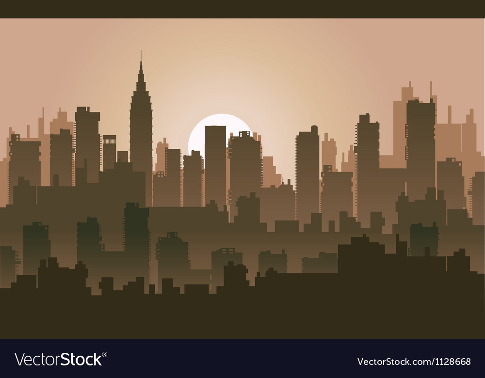 Silhouette skyline vector | Price: 1 Credit (USD $1)
