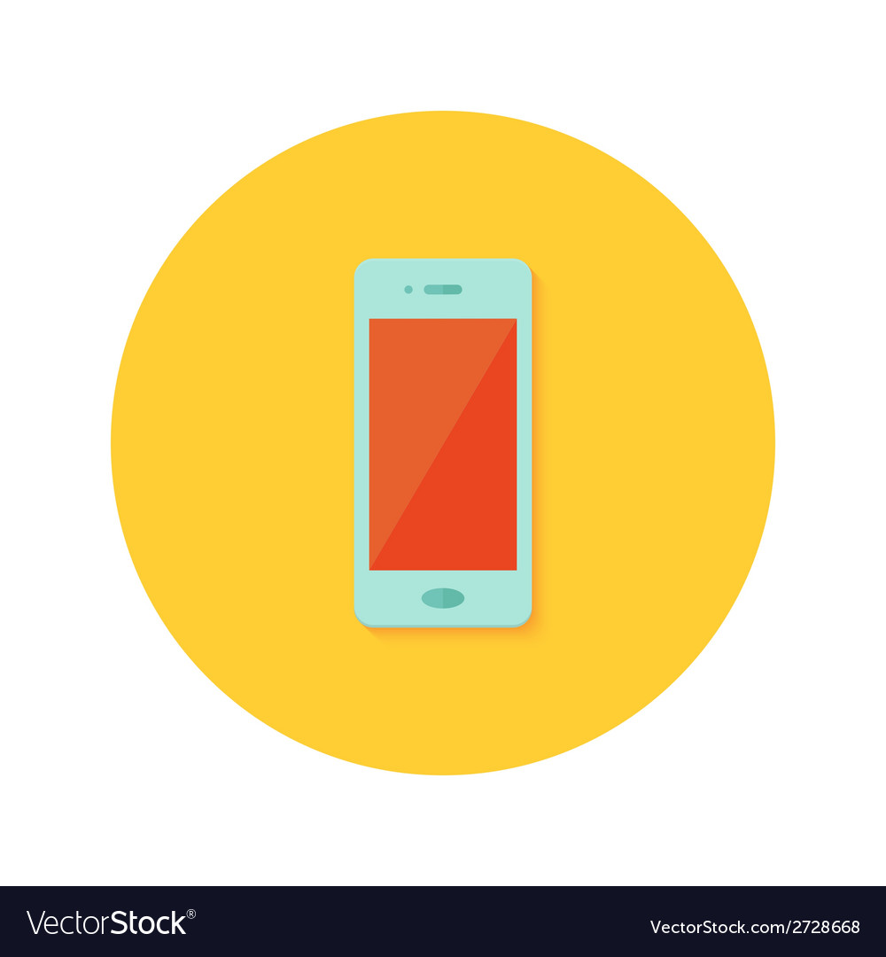 Smartphone icon over orange vector | Price: 1 Credit (USD $1)