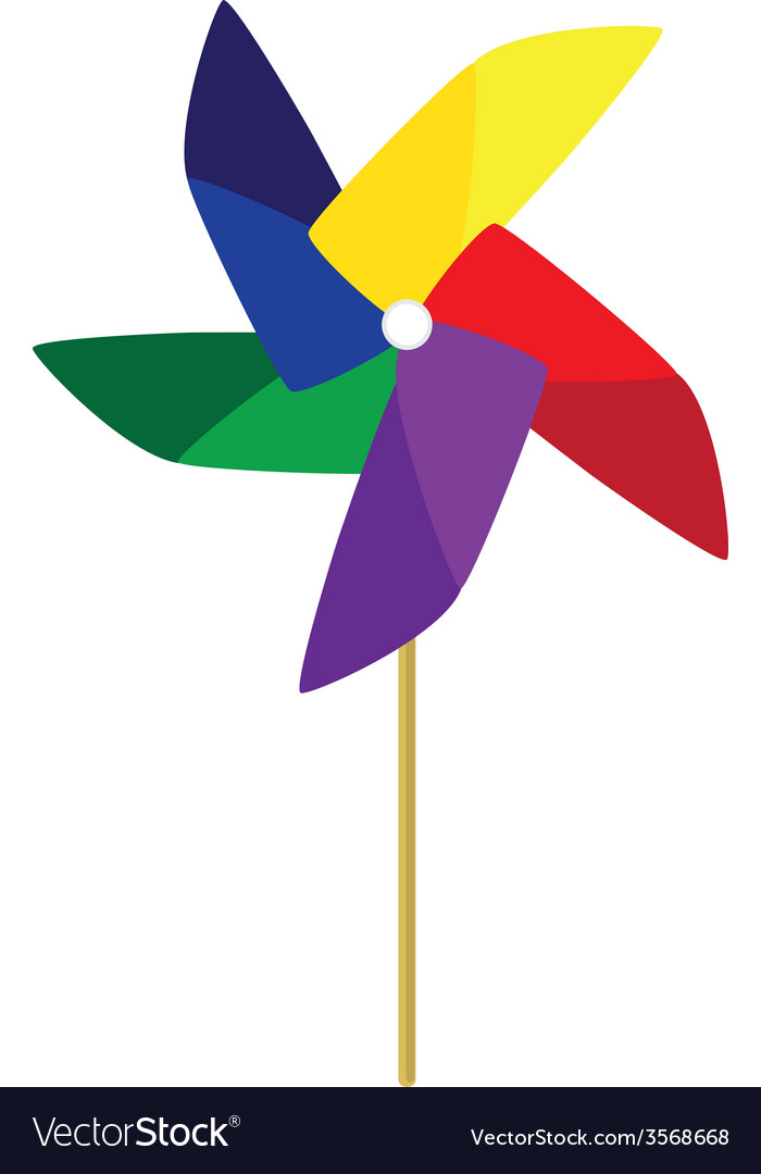 Toy windmill vector | Price: 1 Credit (USD $1)