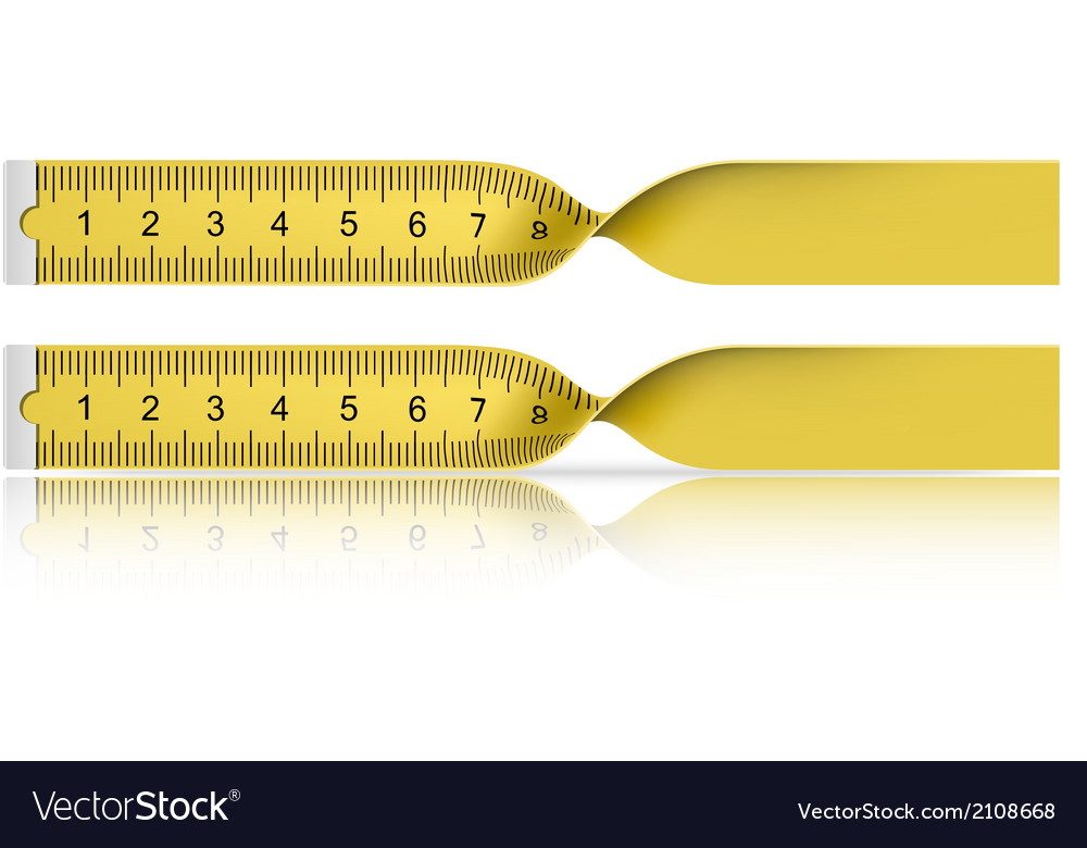 Yellow measuring tape with reflection vector | Price: 1 Credit (USD $1)
