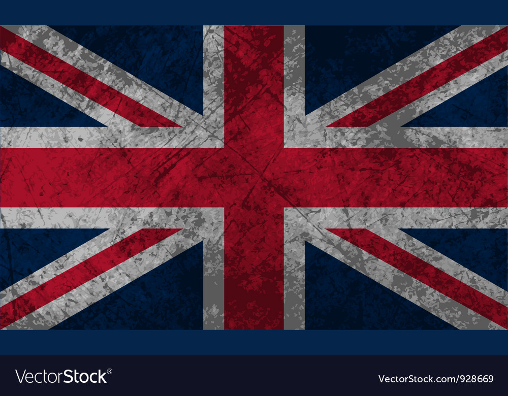 British flag grunge vector | Price: 1 Credit (USD $1)