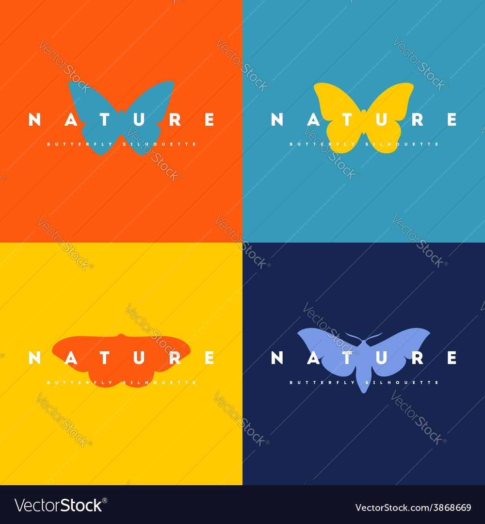 Butterfly set of logo design templates vector | Price: 1 Credit (USD $1)