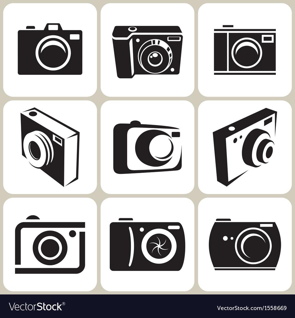 Camera icons set vector | Price: 1 Credit (USD $1)