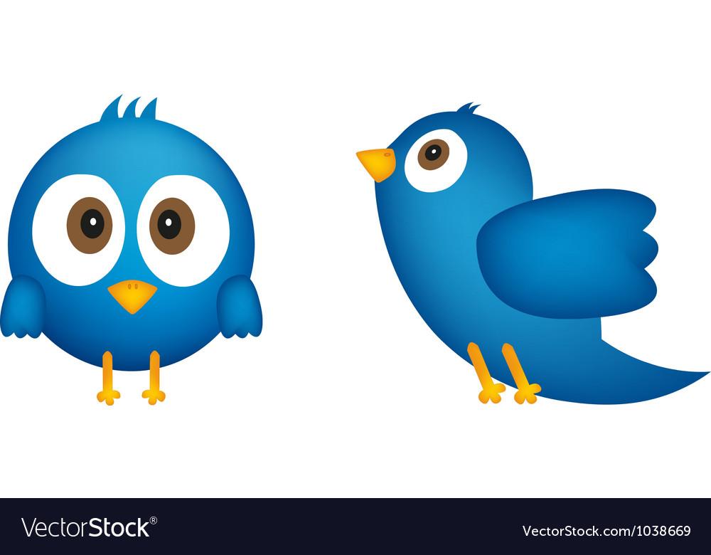 Cartoon of blue bird vector | Price: 1 Credit (USD $1)