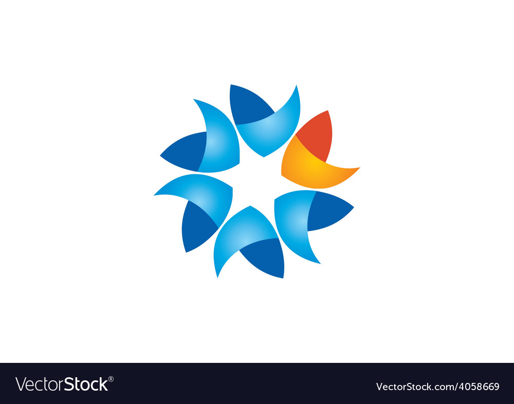 Circular shape business abstract logo vector | Price: 1 Credit (USD $1)