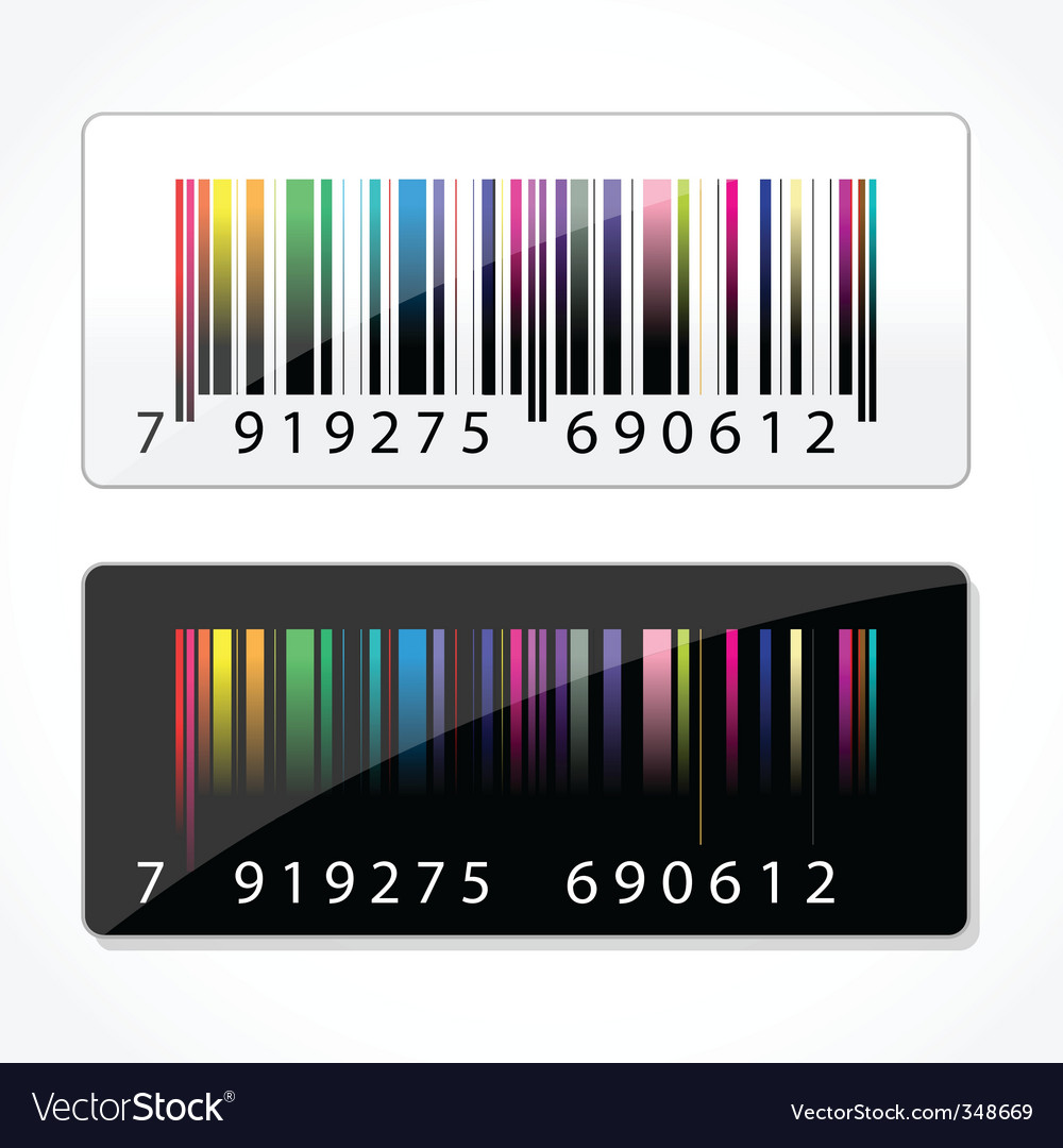 Colorful barcode vector | Price: 1 Credit (USD $1)
