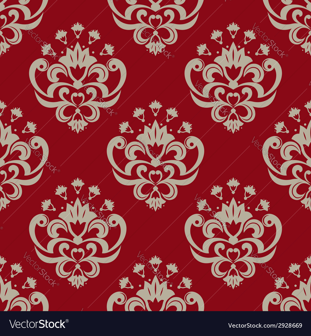 Decorative floral seamless pattern vector | Price: 1 Credit (USD $1)