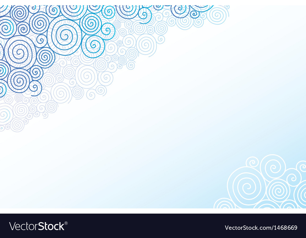 Doodle swirl clouds horizontal background vector | Price: 1 Credit (USD $1)