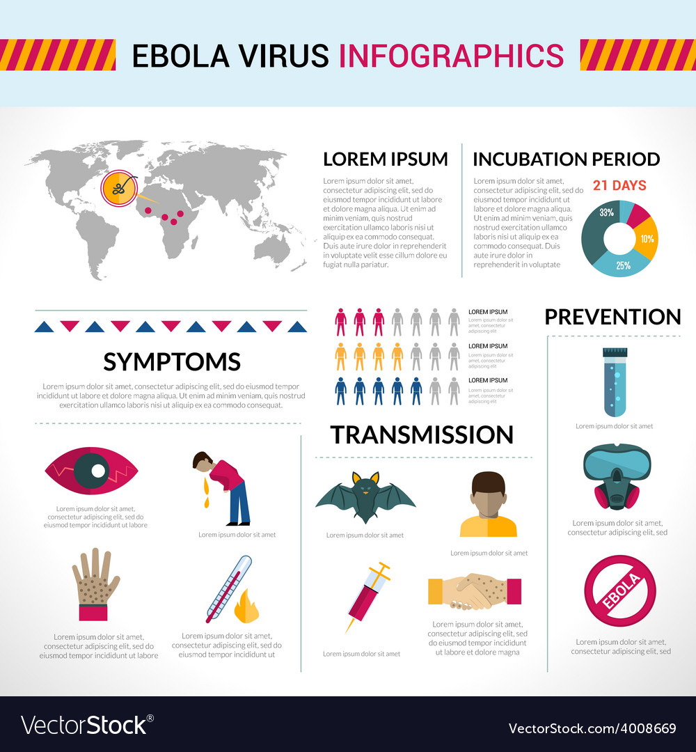 Ebola virus infographics vector | Price: 1 Credit (USD $1)