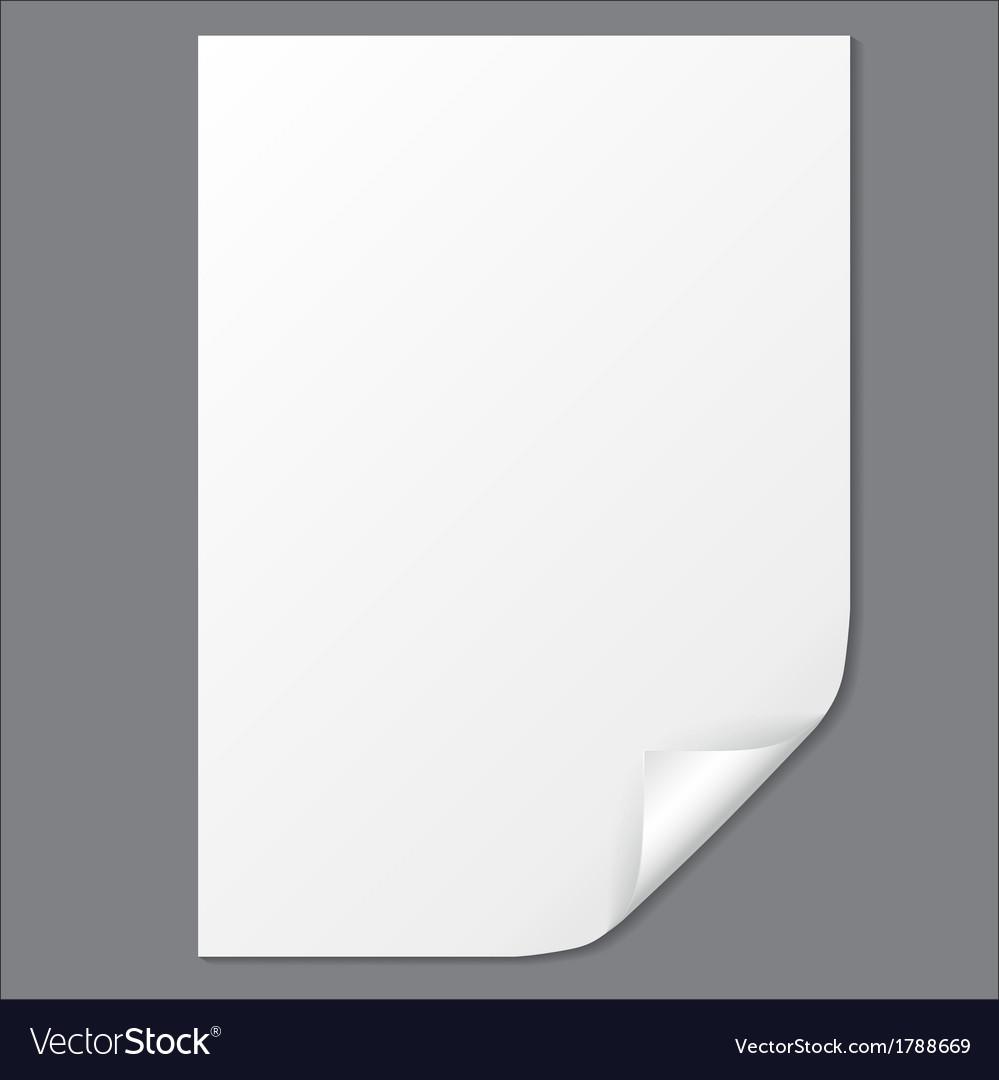 Empty paper sheet eps10 vector | Price: 1 Credit (USD $1)
