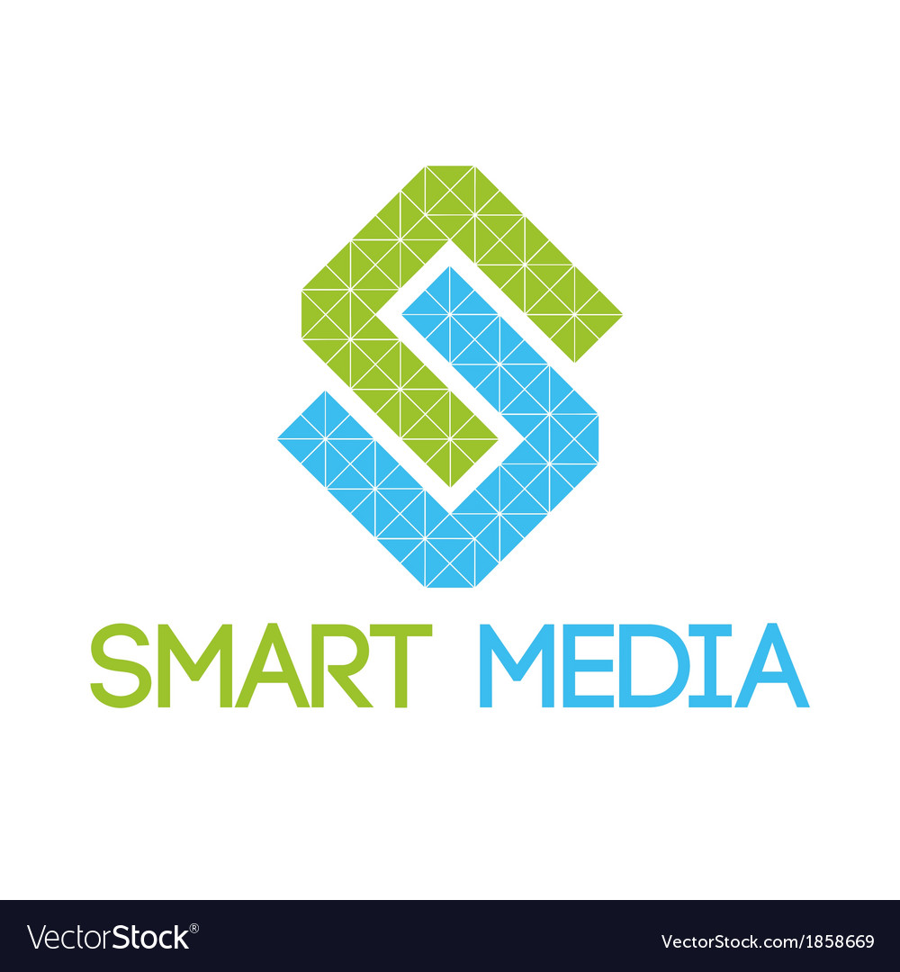 Green blue smart media logo vector | Price: 1 Credit (USD $1)