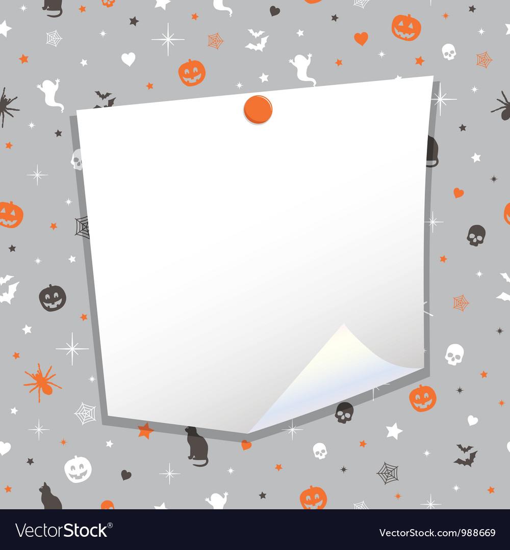 Halloween note paper vector | Price: 1 Credit (USD $1)