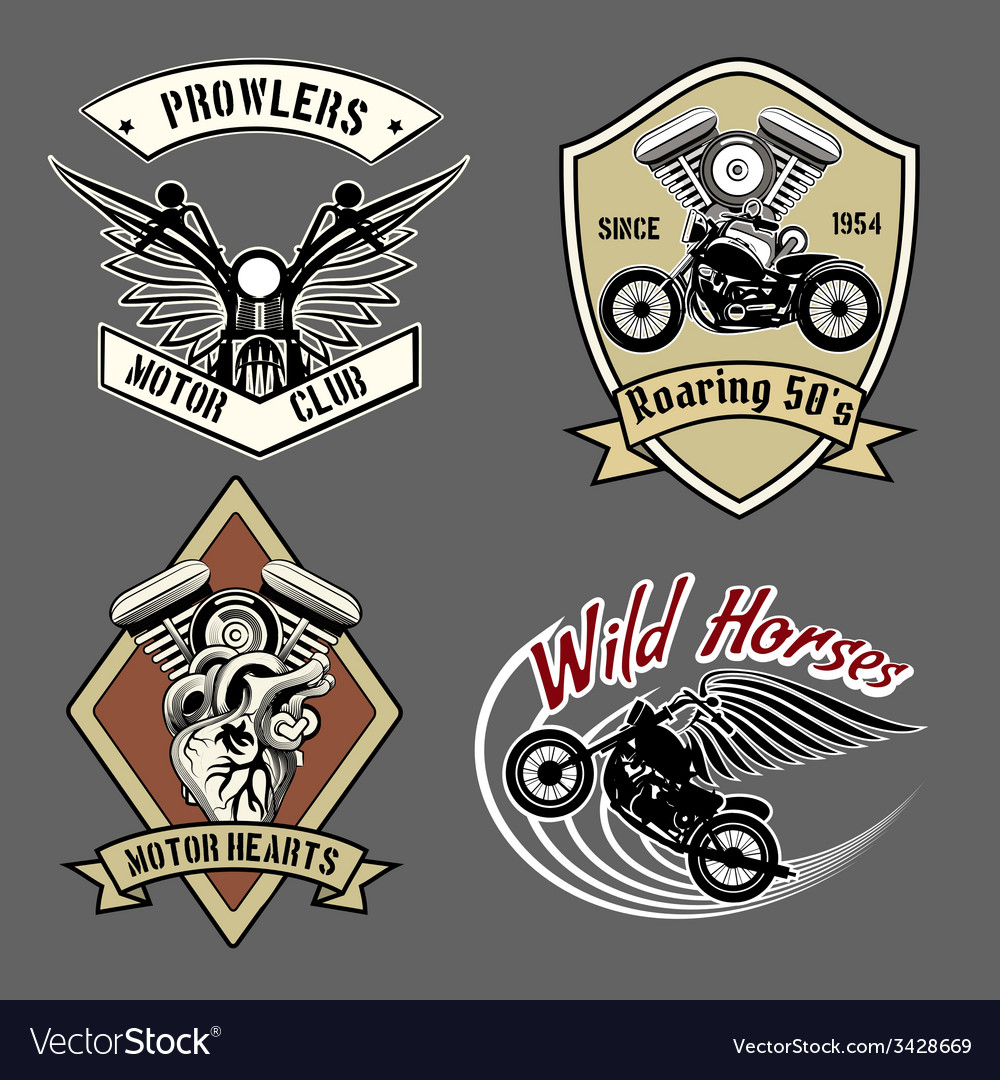 Vintage motorcycle labels vector | Price: 1 Credit (USD $1)