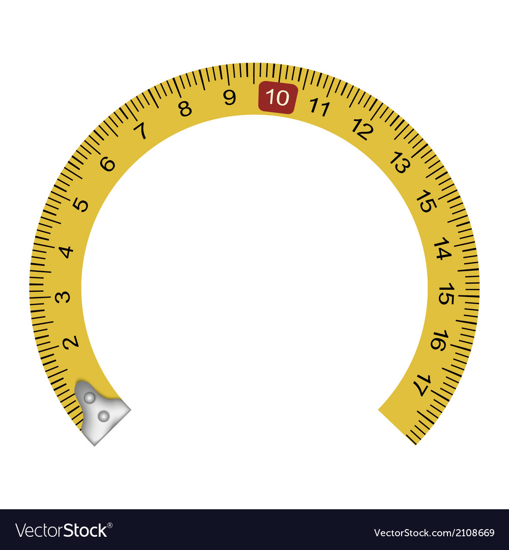 Yellow measuring tape in the shape of a horseshoe vector | Price: 1 Credit (USD $1)