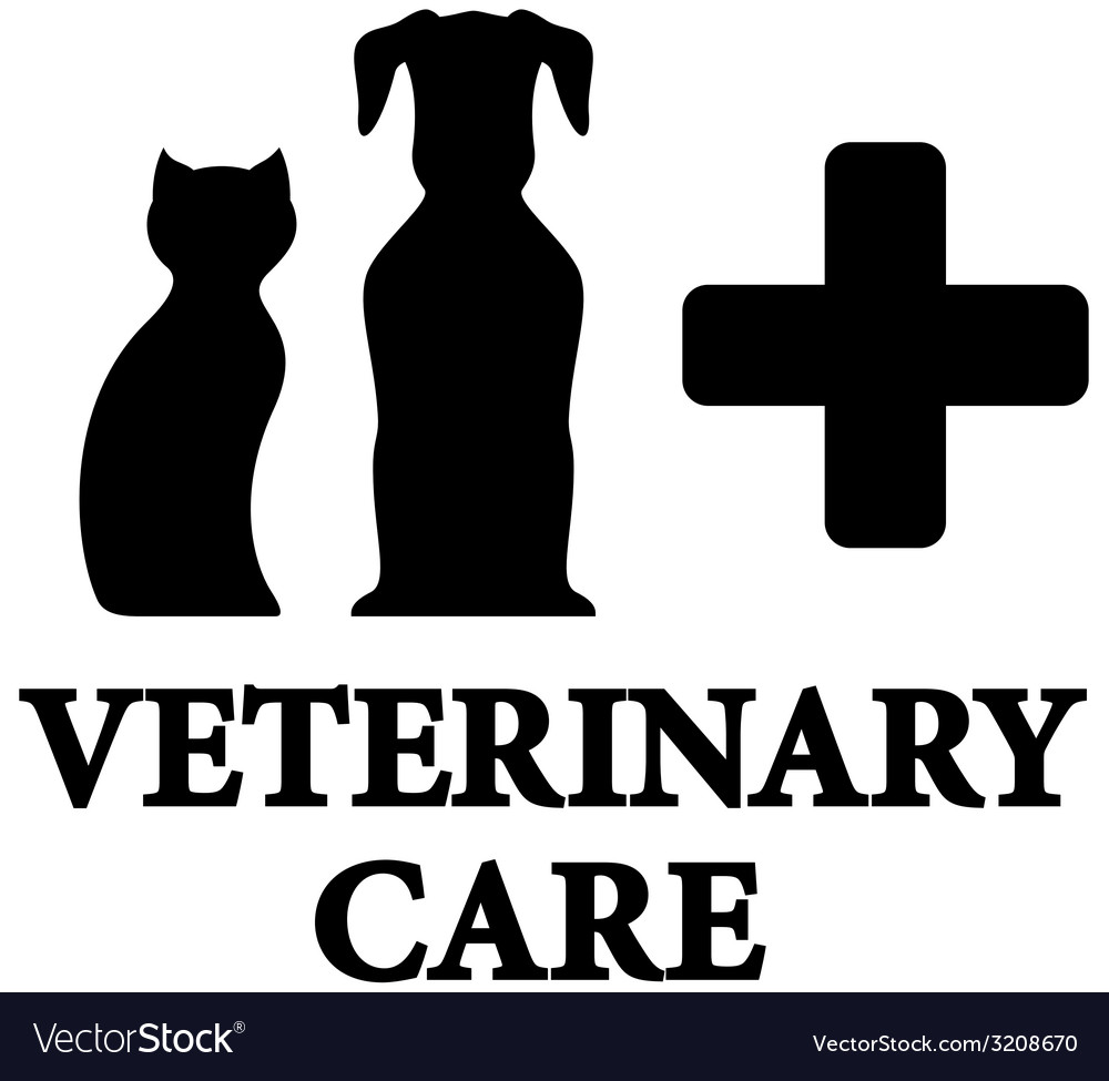 Black veterinary care icon with pet cross vector | Price: 1 Credit (USD $1)