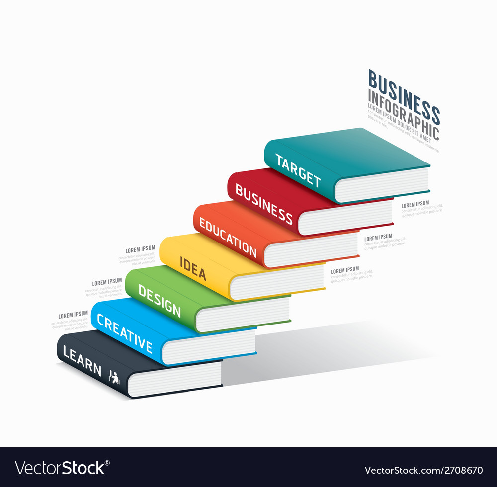 Book info graphic template business success vector | Price: 1 Credit (USD $1)