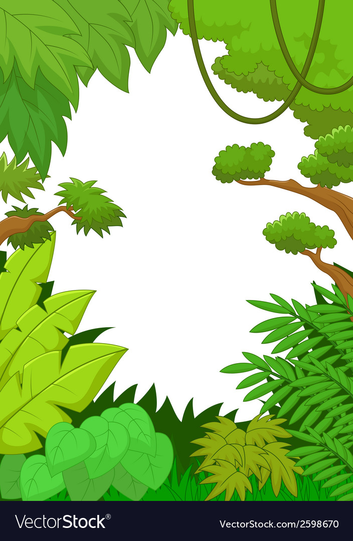 Cartoon tropical jungle background vector | Price: 1 Credit (USD $1)
