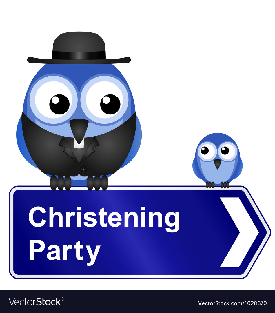Christening party sign vector | Price: 1 Credit (USD $1)