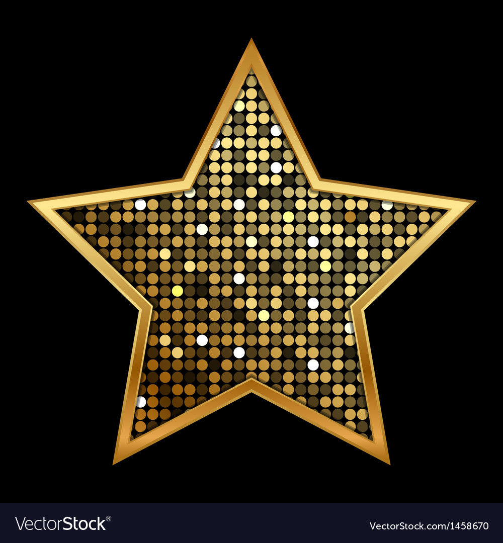 Gold shiny star vector | Price: 1 Credit (USD $1)